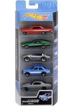 Hot Wheels Fast & Furious 5 Pack Set Movie Impala,Corvette,E