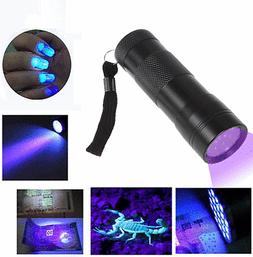 JacobsParts FLT-B 12-LED Handheld Blacklight UV Flashlight w