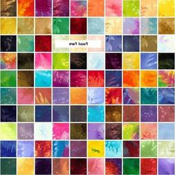 """Benartex FOSSIL FERN 5"""" Charm Pack Fabric Quilting Squares"""
