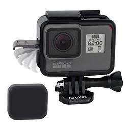 SOONSUN Frame Mount Housing Case with Lens Cover for GoPro H