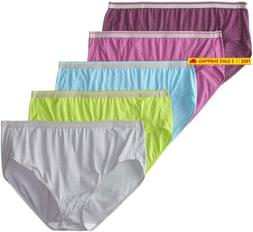 Fruit Of The Loom Women'S Plus Size Fit For Me 5 Pack Microf