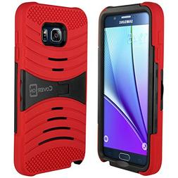 Galaxy Note 5 Case, CoverON  Dual Layer Silicone + Tough Cov