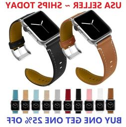 Genuine Leather Wrist Strap For Apple Watch iWatch Band 38mm