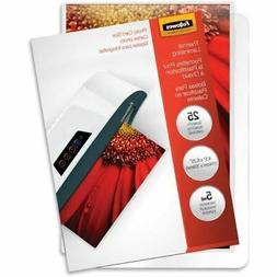 Fellowes Glossy Pouches - 5mil, Photo, 25 Pack 52010
