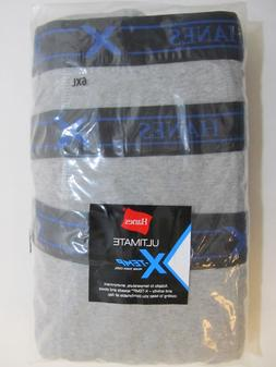 Hanes X-TEMP Big and Tall Men's Underwear Gray Cotton BOXERS