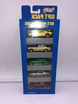HOT WHEELS 1995 GIFT PACK 60'S MUSCLE CARS 5 PACK MATTEL NIB