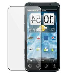 HTC EVO 3D CLEAR SCREEN PROTECTORS - 5 PACK