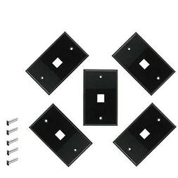 iMBAPrice 1 Port Keystone Jack Wall Plate 1-Gang - Black