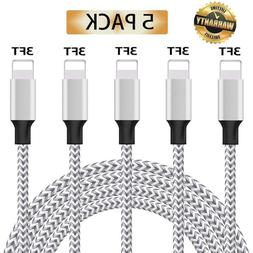 iPhone Charger, MFi Certified iPhone Cable, 5 Pack  Nylon Br