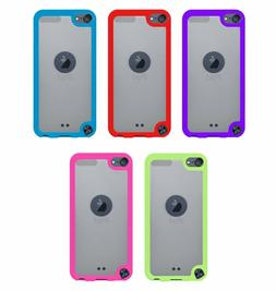 For iPod Touch 5th & 6th Gen - 2 Pack Hard & Soft Rubber Hyb