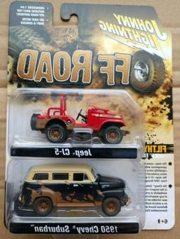 Johnny Lightning Jeep CJ-5 and 1959 Chevy Suburban Off Road