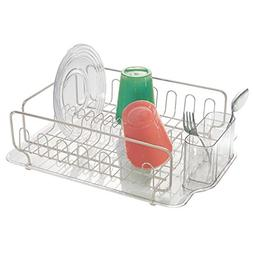 mDesign Large Modern Metal Wire Kitchen Dish Drainer Drying