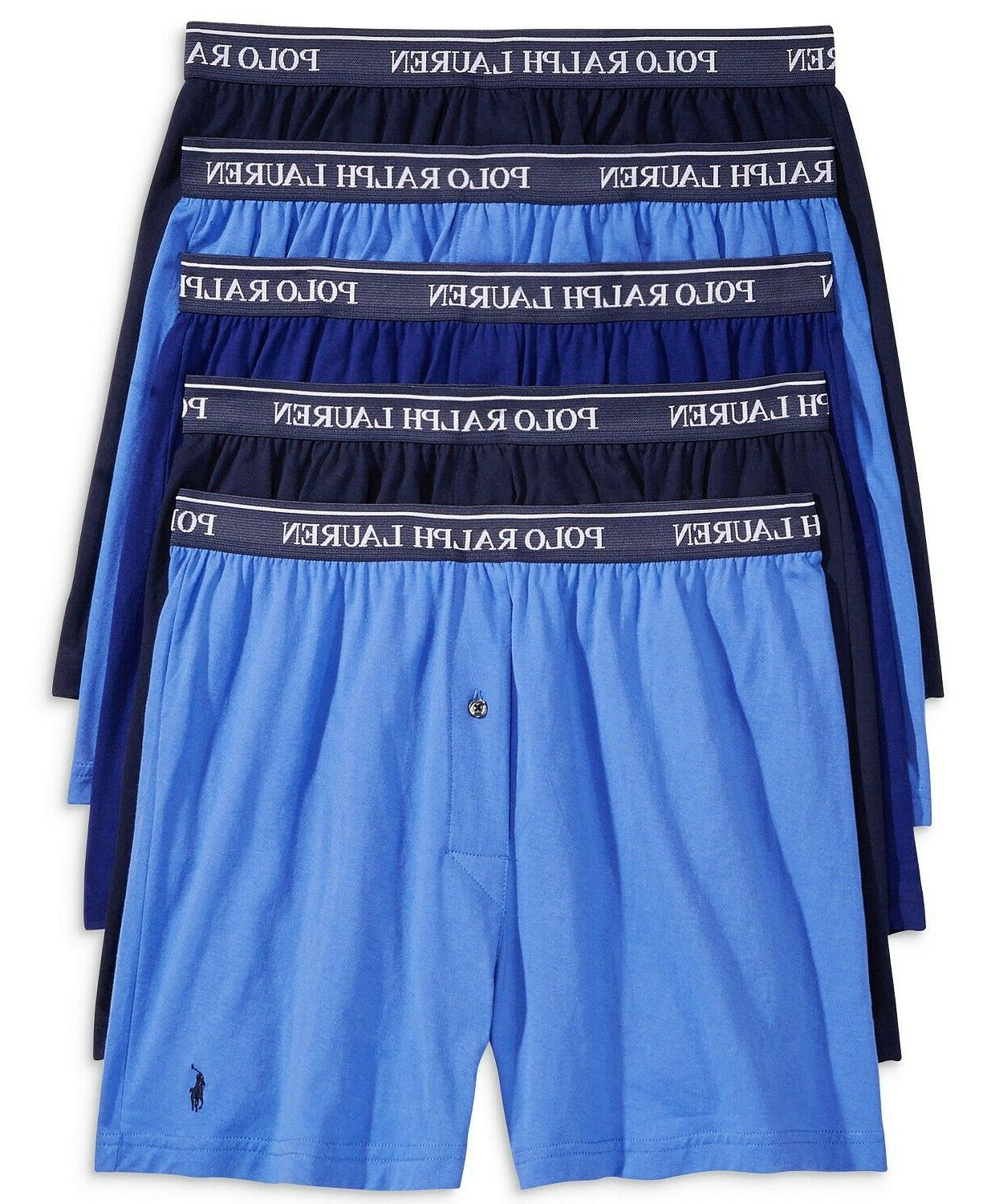 0 5 pack knit boxers blue classic