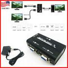 1 PC to 2 Monitor 2 Port VGA SVGA Video LCD Splitter Box Ada