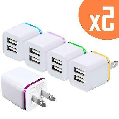 2 port 2 1a usb wall charger