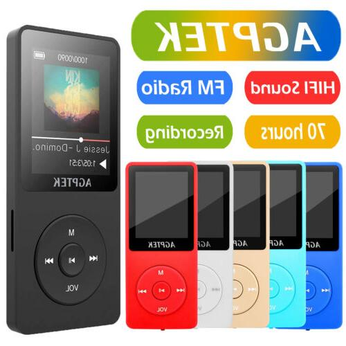 AGPtEK Latest Version Lossless Sound MP3 Music Player 70 Hou