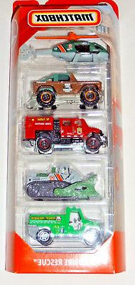 MATCHBOX 2019 5-PACK WILDFIRE RESCUE MBX RESCUE CASE L