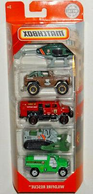 MATCHBOX 2019 5-PACK WILDFIRE RESCUE MBX RESCUE CASE K&M