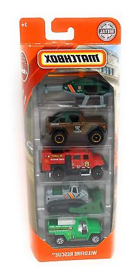 Matchbox 2019 MBX Rescue Wildfire Rescue 5-Pack