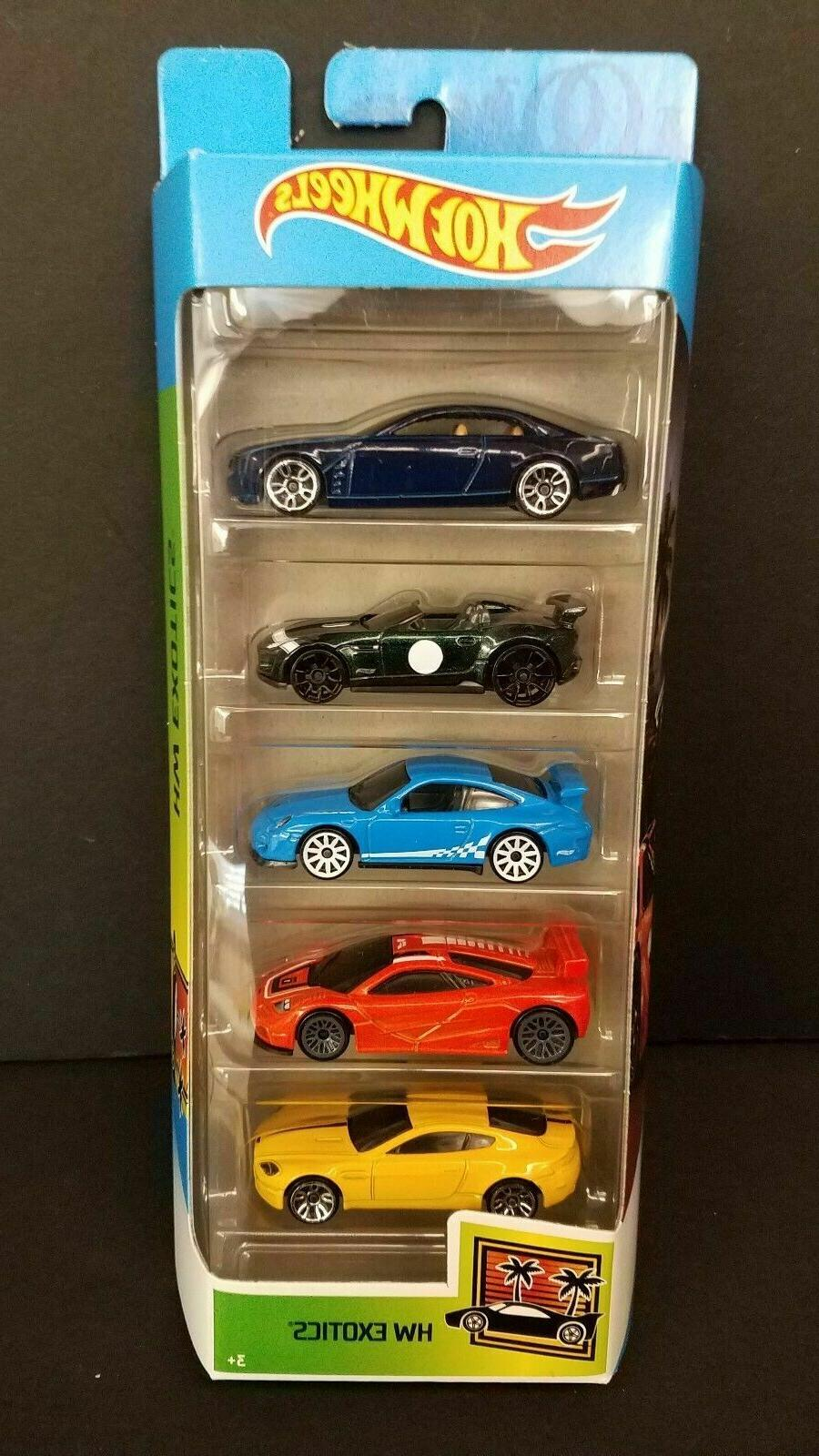 2020 Hot Wheels HW EXOTICS 5 Pack PORSCHE JAGUAR MCLAREN AST