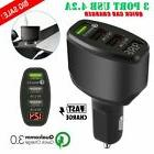 3-Port USB 4.2A Quick Car Charger Adapter LED Display Fast C