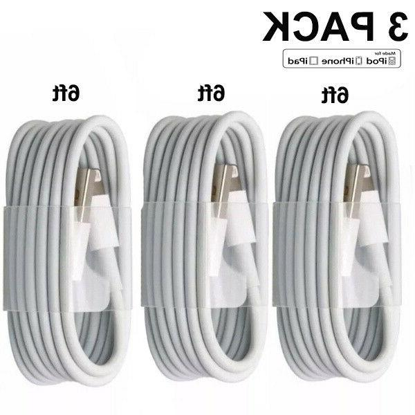 3 pack 6ft usb data charger cables