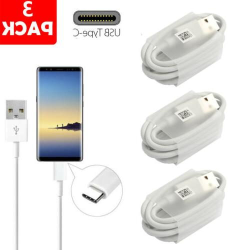 USB-C Type C Cable Fast Charge Cord For Samsung S8 S9 LG G5
