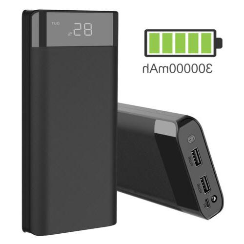 300000mah 3usb external power bank pack portable