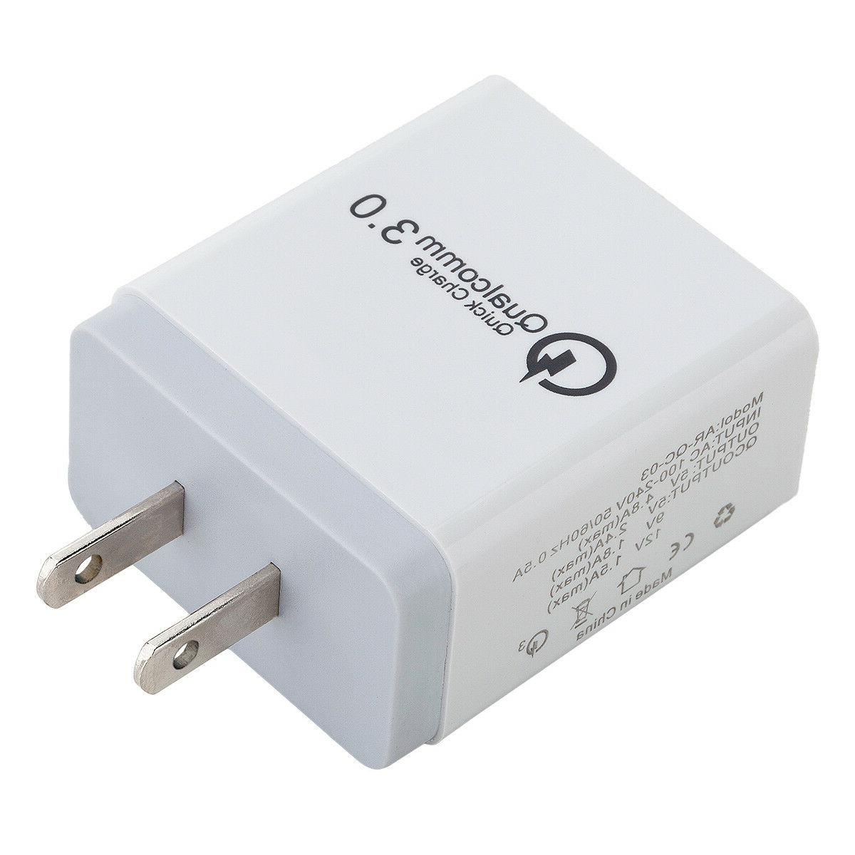30W 3-Port Wall Charger Charge iPhone Samsung