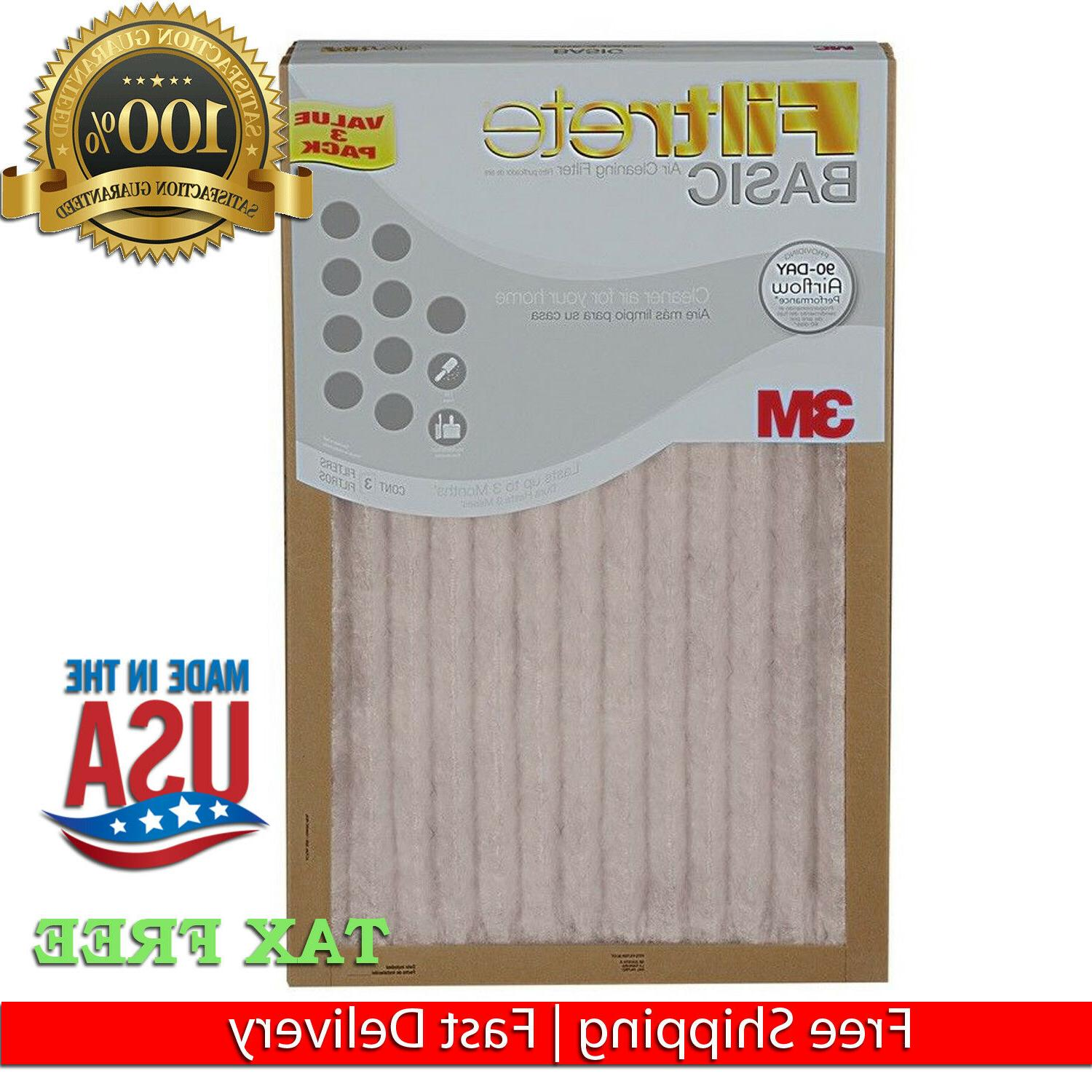 374444FILTRETE 3M AIR FURNACE FILTER WHITE PLEATED 3 PK OR 1