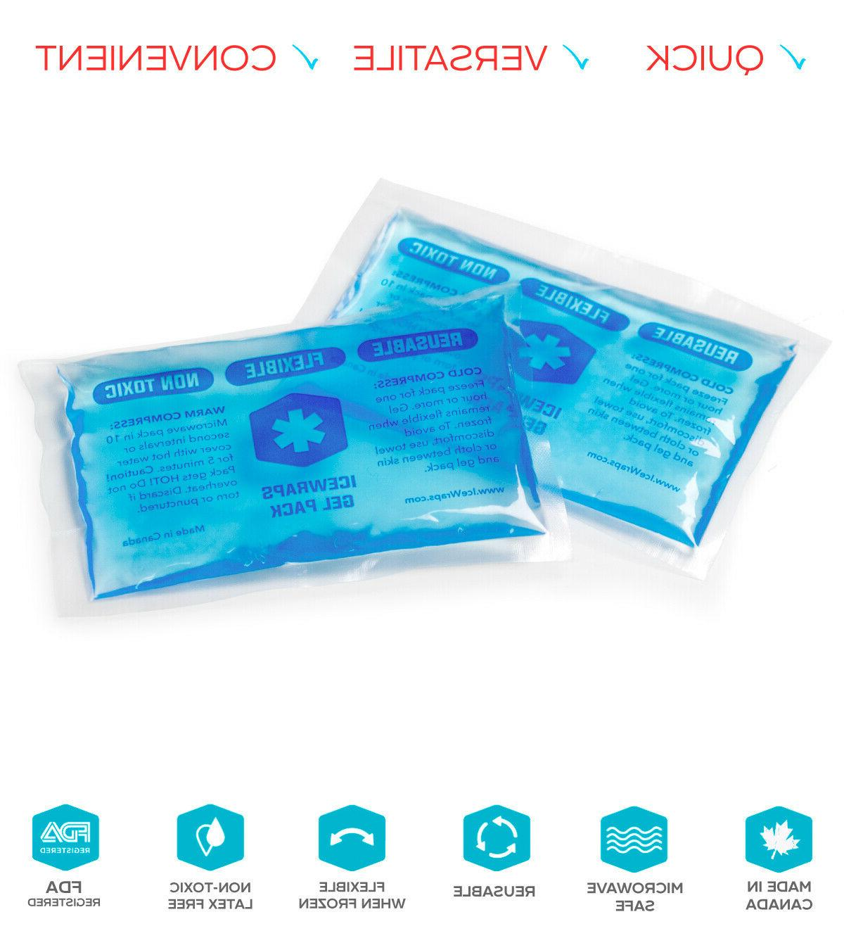 ICEWRAPS 3x5 ICE PACKS REUSABLE HOT/COLD GEL PACK, 6 -
