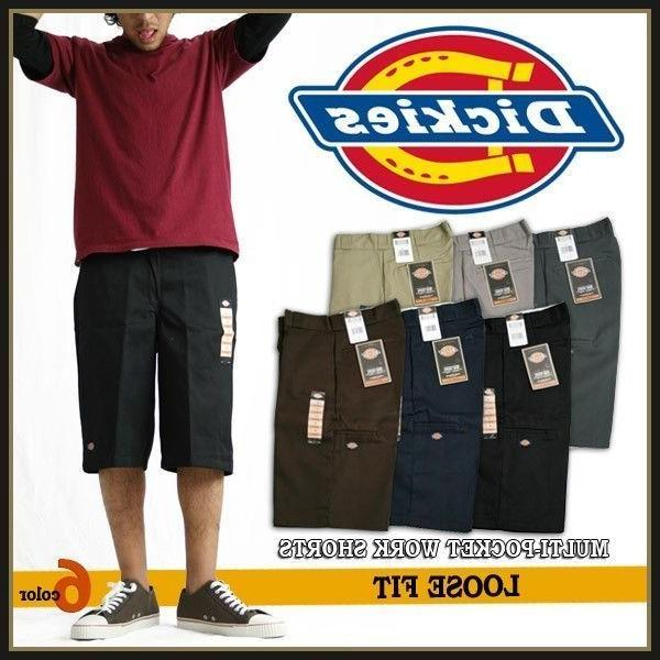 "Dickies 42283 Mens 13"" Multi-Use Pocket Work Shorts Various"
