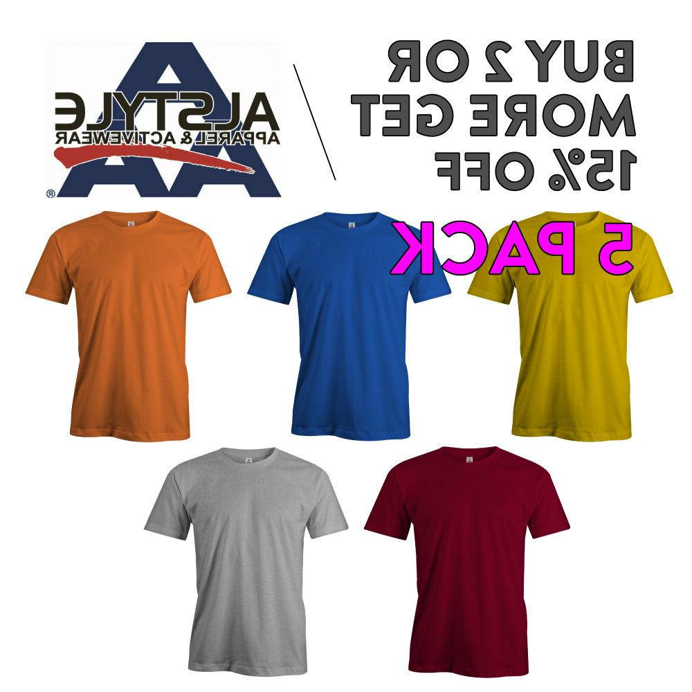5 pack aaa alstyle 1301 mens casual