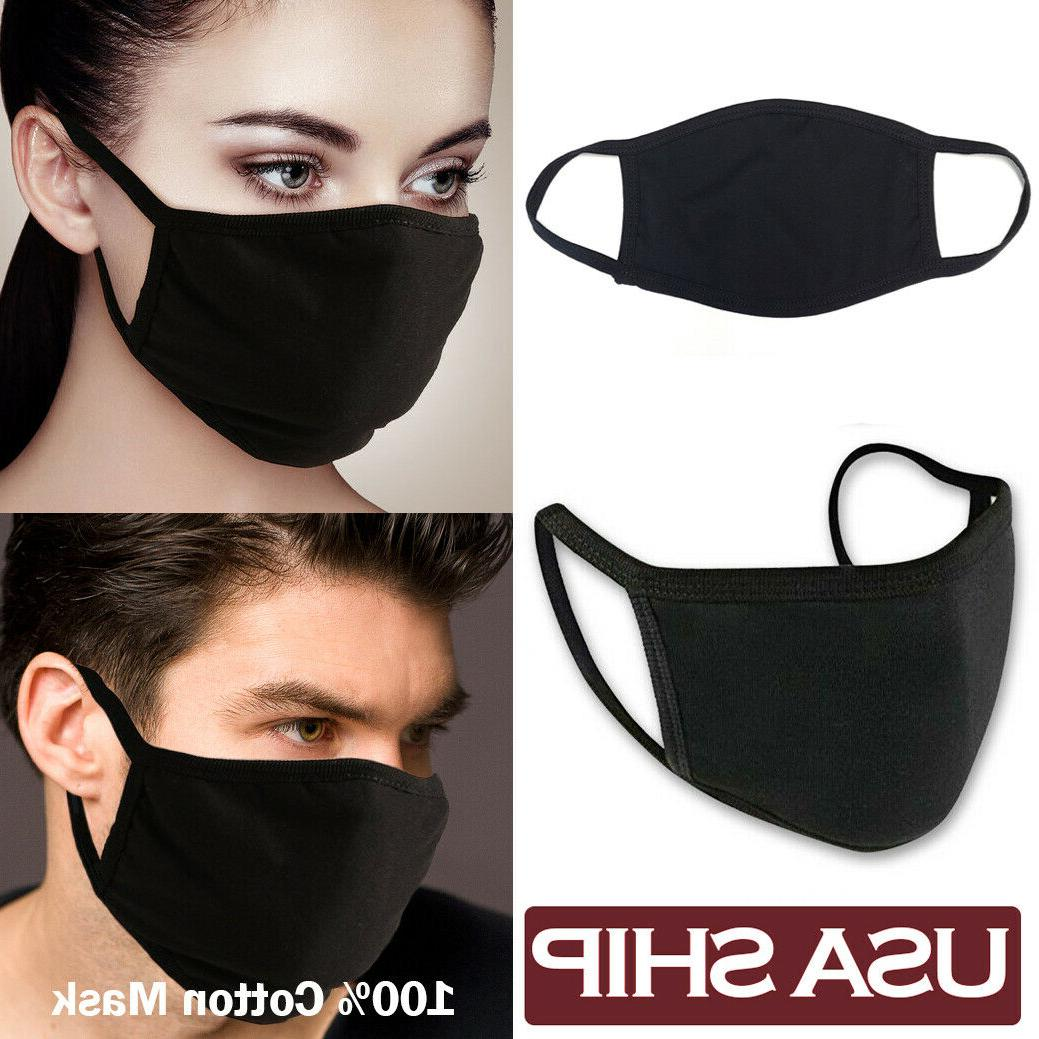 5 Pack - Black Mask Reusable Protective Facemask