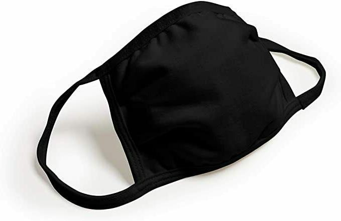 Black 100% Mask Protective Cover Facemask