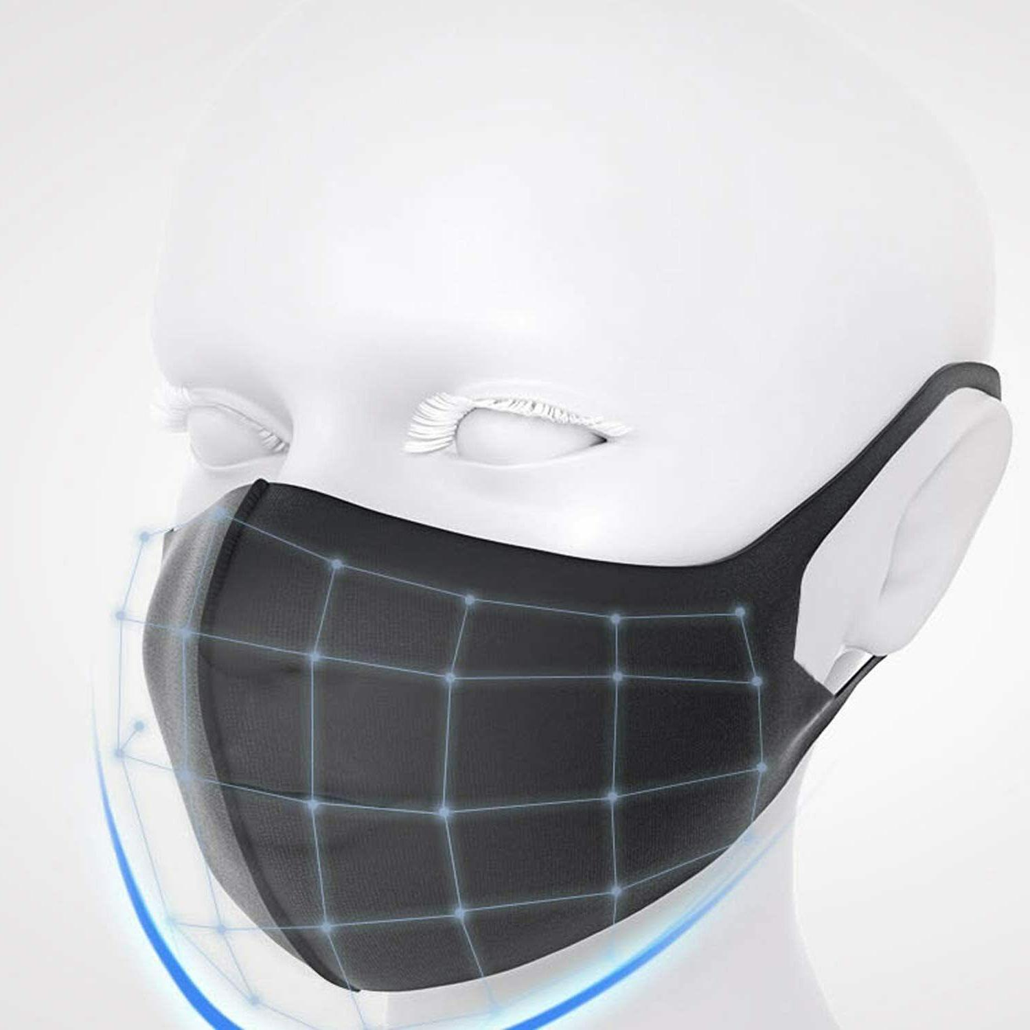 5-PACK Black Fashion Mask Adult IN USA