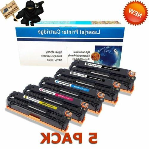 5 pack ce320a toner cartridges for hp