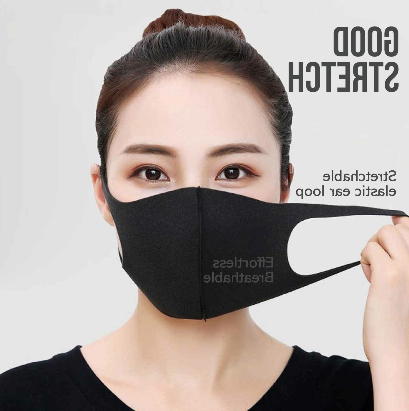 5 Pack Reusable Washable Breathable Women Face Mask