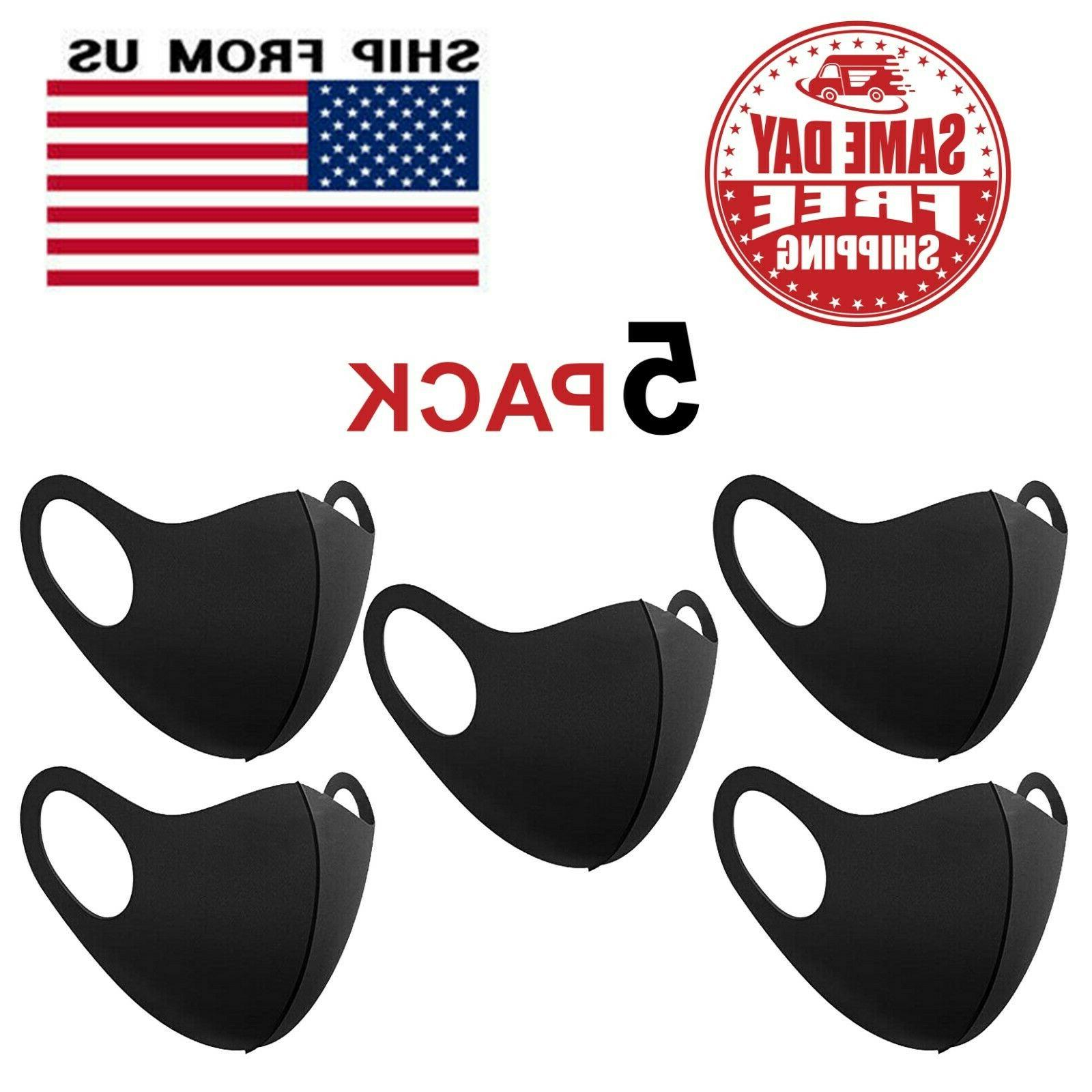 5 pack face mask reusable washable breathable