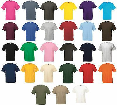 5 Pack Men's Fruit of The Loom Plain Valueweight Crew Neck T