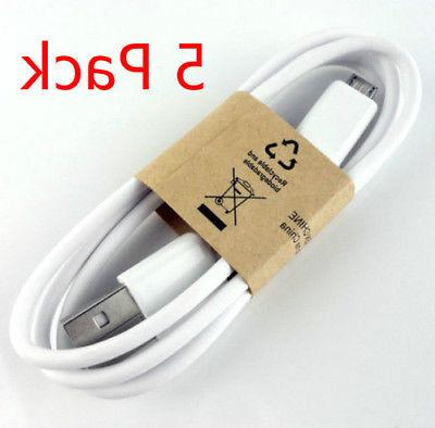 5 PACK USB Cable Galaxy S6 HTC