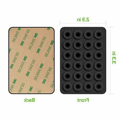 5x Strong 3M Adhesive Mini Suction Cup Mat for Phone,Charger