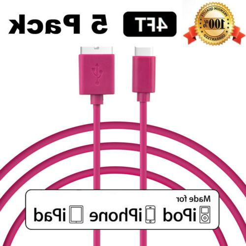 5 PACK NEW USB Charger Charging Cable For Apple iPhone 6s 7