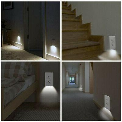 5 Pack Outlet Cover Plate with Led Sensor