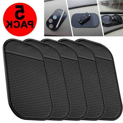 5-Pack Non Slip Car Sticky Mat Pad Holder Dash Mount For GPS