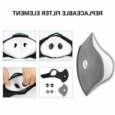 5 Pack Carbon Replacement Filters Dual Masks