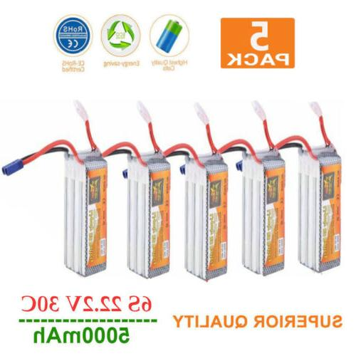 5 pack power 22 2v 5000mah high