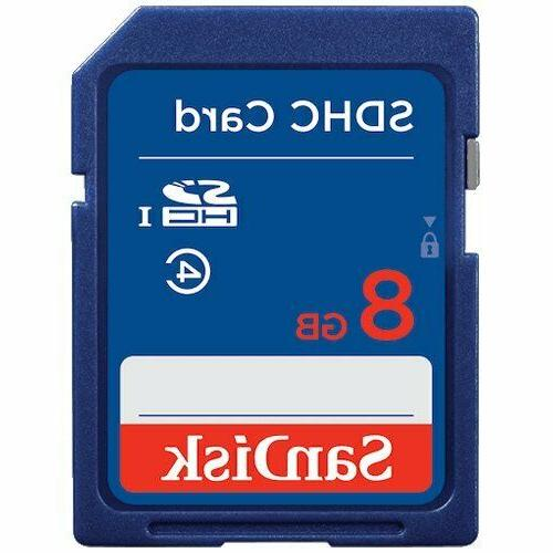 5 Pack SD Cards Sandisk 8GB SDHC Class Moultrie