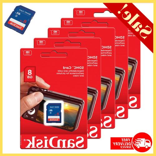 5 pack sd cards 8gb sdhc class