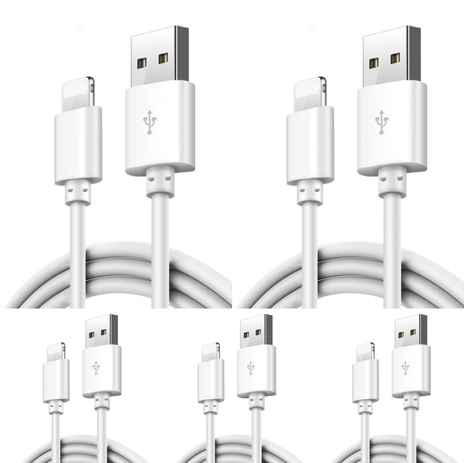 5 pack usb data charging charger cables